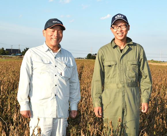 大豆栽培技術の向上で、水田転換畑で単収300kgを達成!
