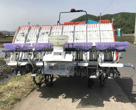 可変施肥機能付き田植機で酒米の単収向上及び品質の均一化を目指す(岩手県二戸市)