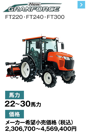 New GRANFORCE FT220・FT240・FT300